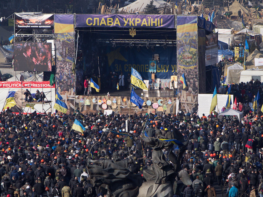 Euromaidan in Kiev, 21 February 2014. | Credit: Wikimedia Commons