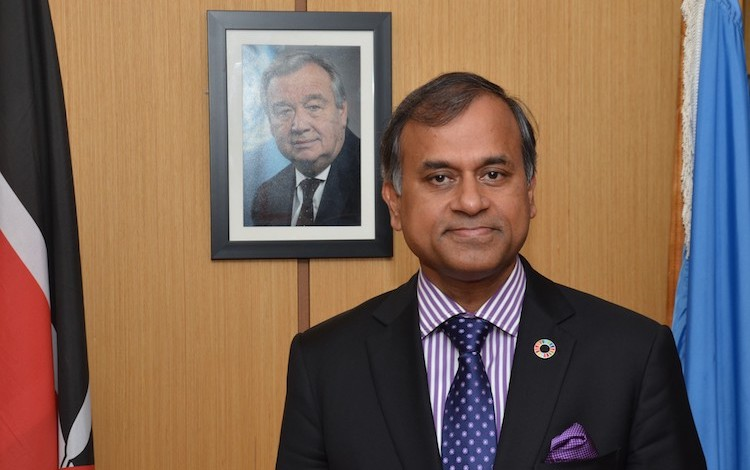 Photo: UNDP Resident Representative in Kenya, Siddharth Chatterjee