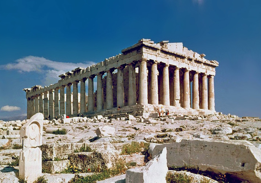 Parthenon, Athens Greece. Photo taken in 1978.| Credit: Wikimedia Commons