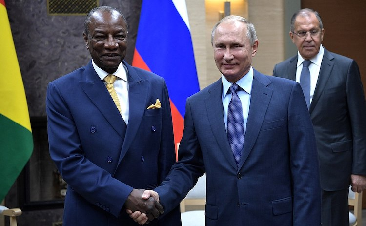 Photo: 82-year-old Alpha Condé, President of Guinea, with Russian President Vladimir Putin in 2017.