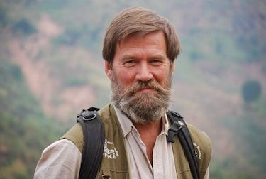 Ian Redmond in eastern DRC. Courtesy of M. O'Donnell, Channel 7