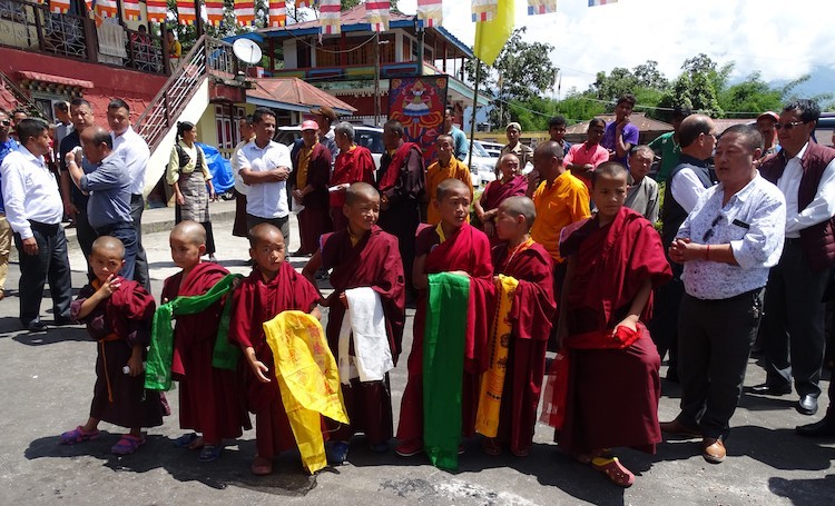 Photo: Baby monks waiting to welcome Sikkim Chief Minister to inaugurate the Phodong Monastery , a government funded guest. Credit; Kalinga Seneviratne | IDN-INPS.