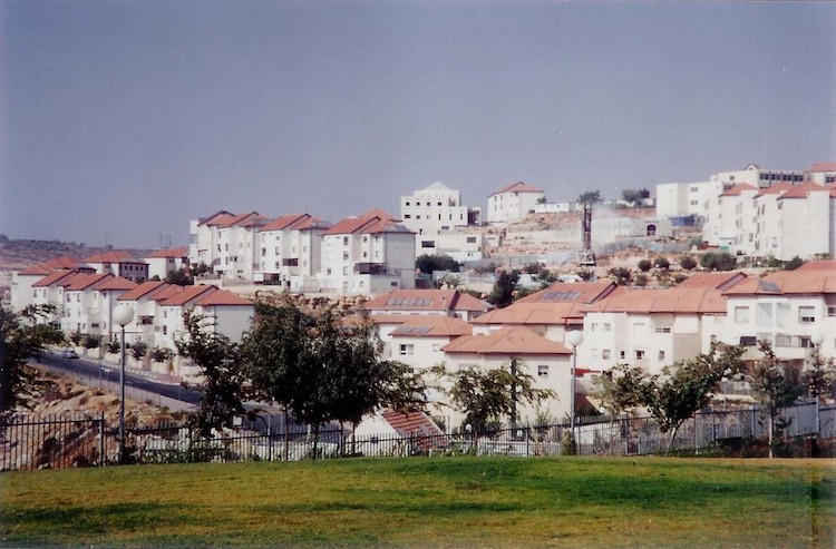Photo: Beitar Illit, one of the four biggest settlements in the West Bank. Source: Wikimedia Commons.