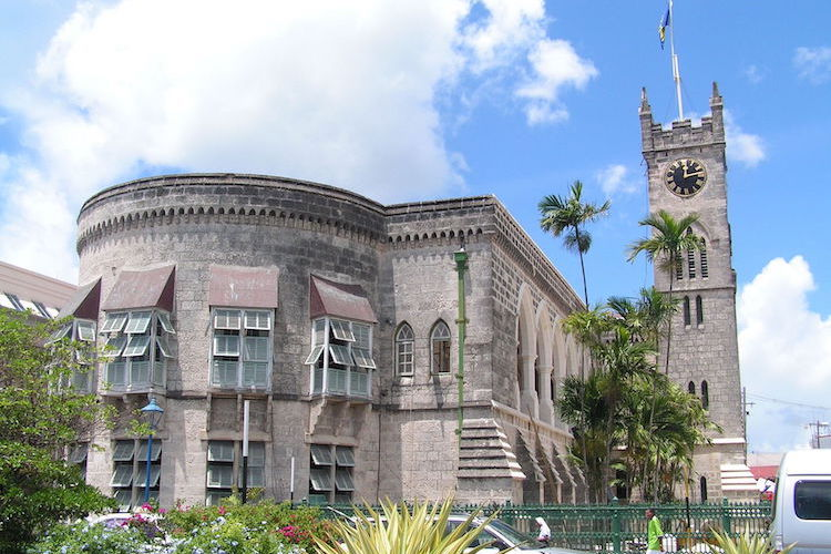 Photo: Parliament building (west wing) in Bridgetown, Barbados. Credit: Wikimedia Commons.