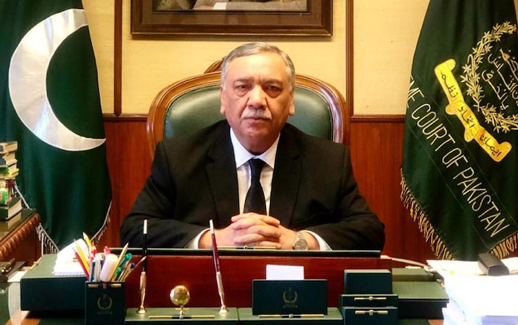 Photo: Pakistan Supreme Court Chief Justice Asif Saeed Khan Khosa. Source: Supreme Court of Pakistan.