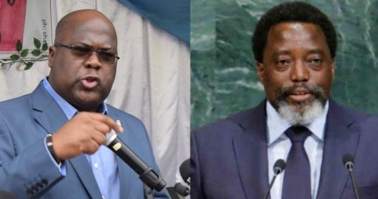 Photo: President Félix Tshisekedi (left) and predecessor Joseph Kabila (right). Credit: DR.