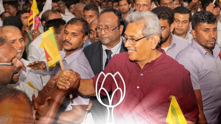 Photo: Gotabaya Rajapaksa wins as President of Sri Lanka. Source: Colombo Telegraph.