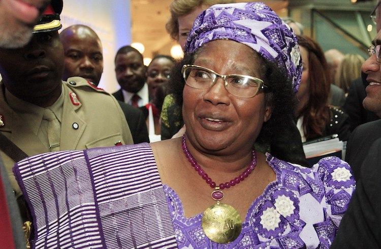 Photo: The then Malawi president Joyce Banda at the Nutrition for Growth conference in London on June 8, 2013. CC BY 3.0