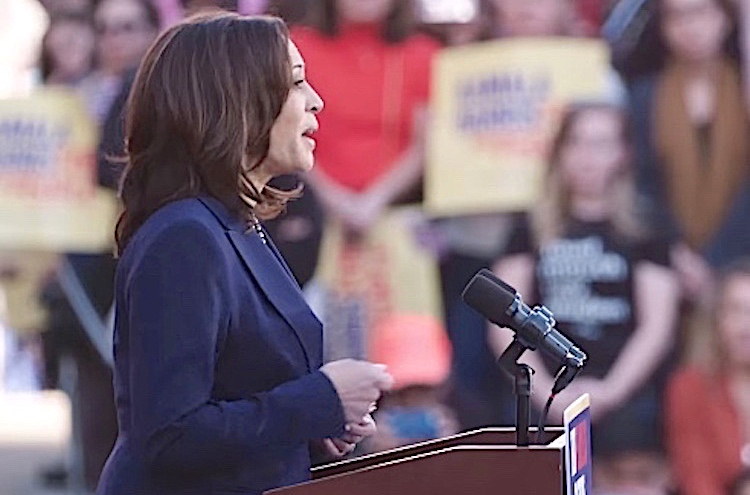 Photo: Kamala Harris announcing her candidacy for the presidency, on January 27, 2019. CC BY 3.0