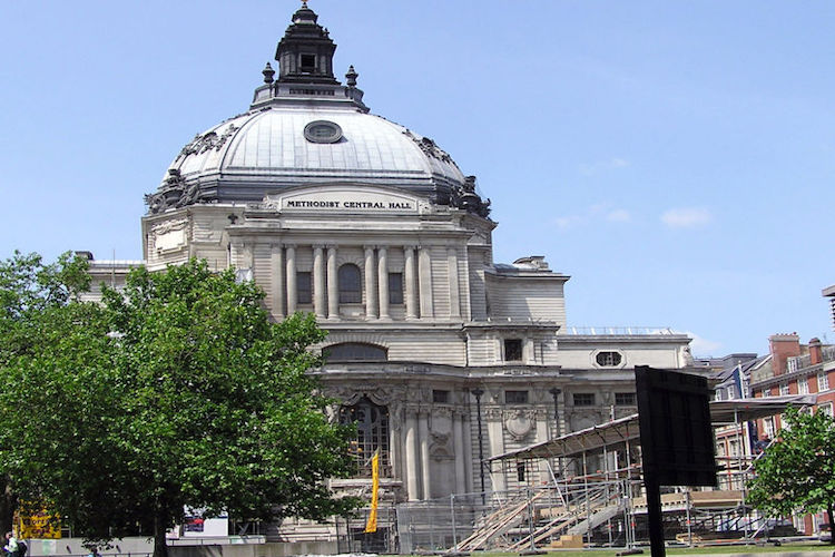Photo: Methodist Central Hall, London, the location of the first meeting of the United Nations General Assembly in 1946. Source: Wikimedia Commons