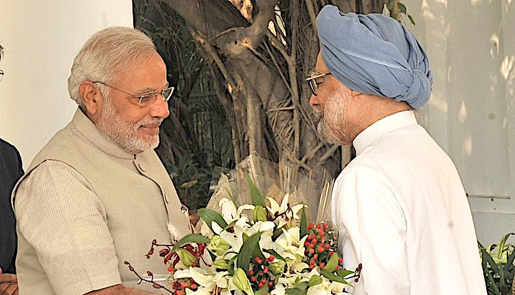 Photo: Prime Minister Narendra Modi's record on the economy compares unfavourably with his predecessor Dr.Manmohan Singh government's growth, which for one year hit 10 percent and for a number of years was over 8 percent. Source: Press Information Bureau on behalf of Prime Minister's Office, Government of India.