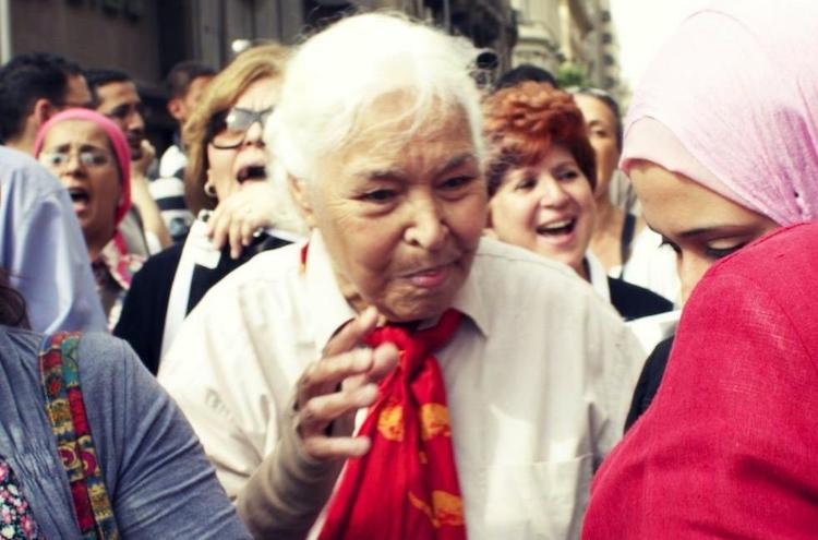 Photo: Nawal el Saadawi, Tahrir, April 2012. CC BY 2.0