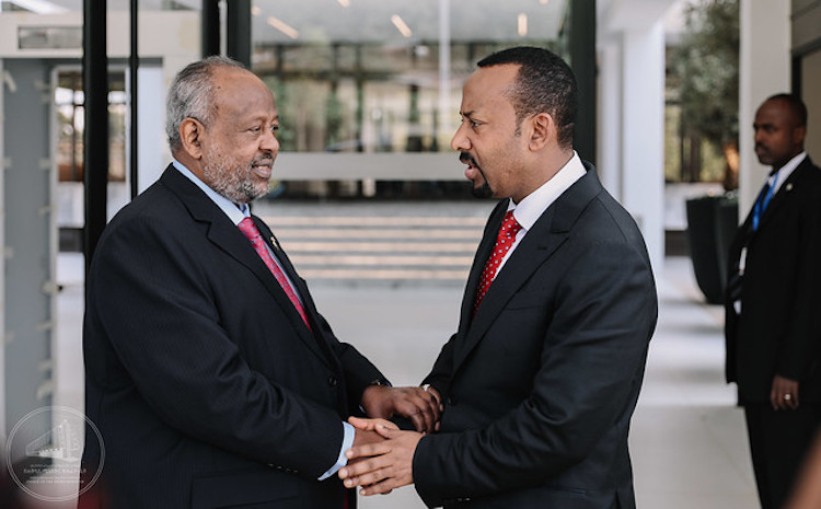 Photo: Ethiopian Prime Minister Abiy Ahmed with Presidfent Guelleh of Djibouti on 18 November 2018.
