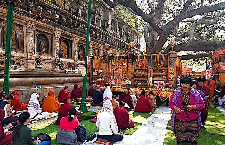 Photo: Pilgrims at the sacred Bo-Tree. Credit: Kalinga Seneviratne | IDN-INPS