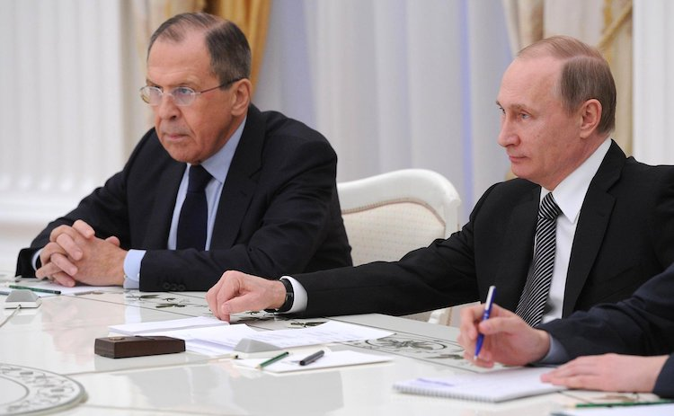 Photo: Russian Foreign Minister Sergey Lavrov with President Vladimir Putin. CC BY 4.0