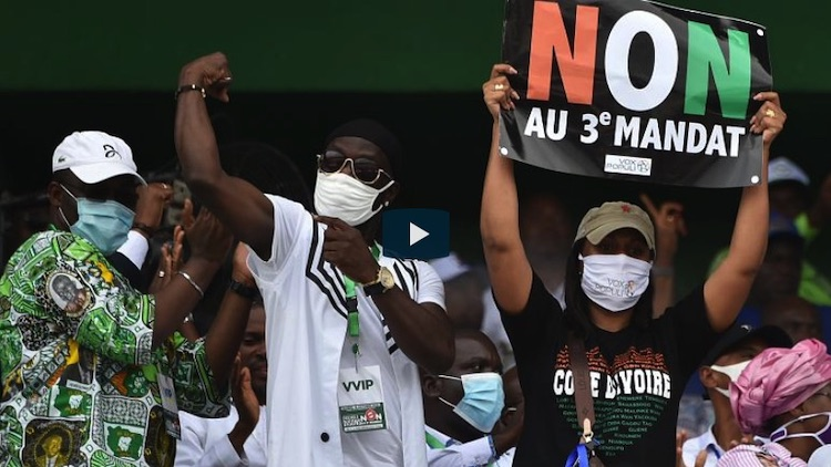 Photo: Ivory Coast protests. Source: Euronews.