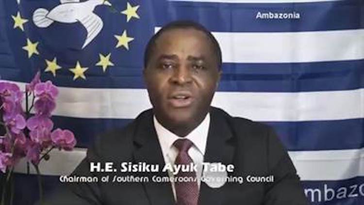 Photo: Sisiku Ayuk Tabe, leader of Ambazonia.