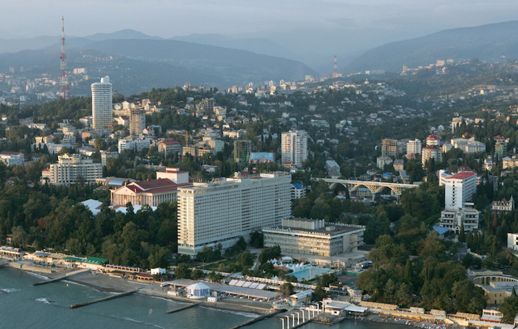 Photo: Aerial view of Sochi, located on the Black Sea coast. CC BY-SA 3.0