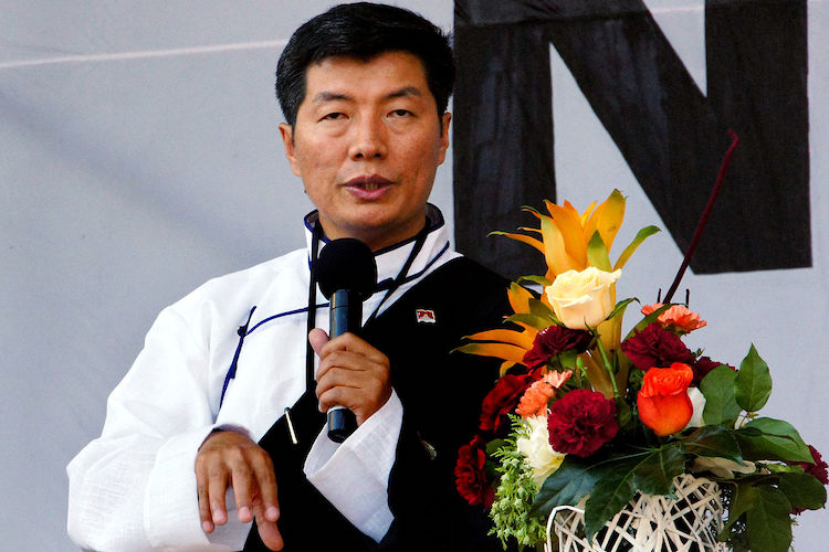 Photo: Tibet President Lobsang Sangay in Vienna, Austria, in 2012. CC BY-SA 3.0