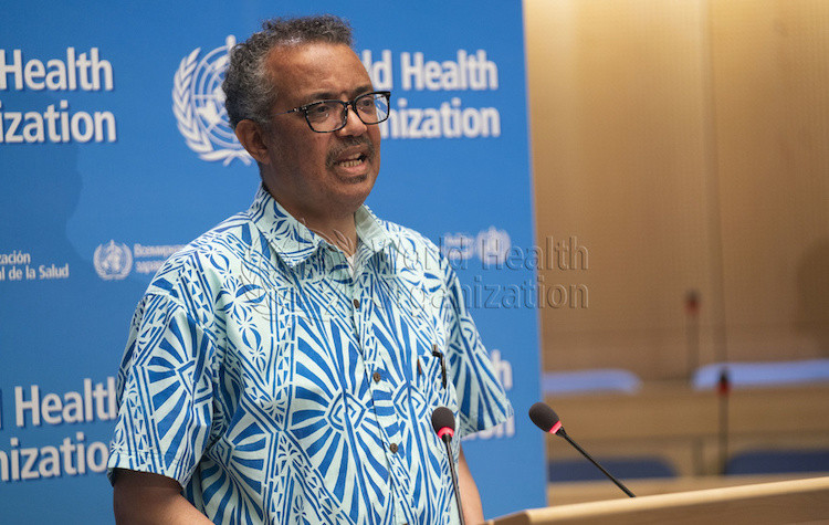 Photo: WHO Director-General, Dr Tedros Adhanom Ghebreyesus during the closing session of the 73rd World Health Assembly on 19 May 2020. Credit: WHO.