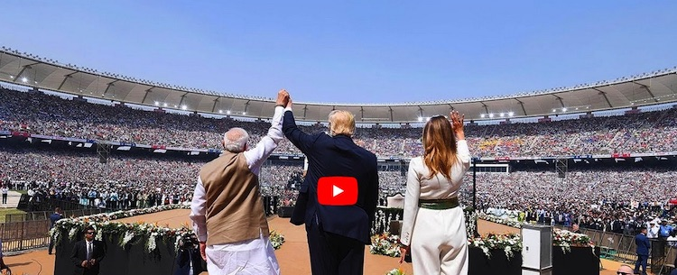 Photo: Prime Minister Narendra Modi and US President Donald Trump attends 'Namaste Trump' event in Ahmedabad, Gujarat. Streamed live on 24 Feb 2020. Credit: Prime Minister's Office.