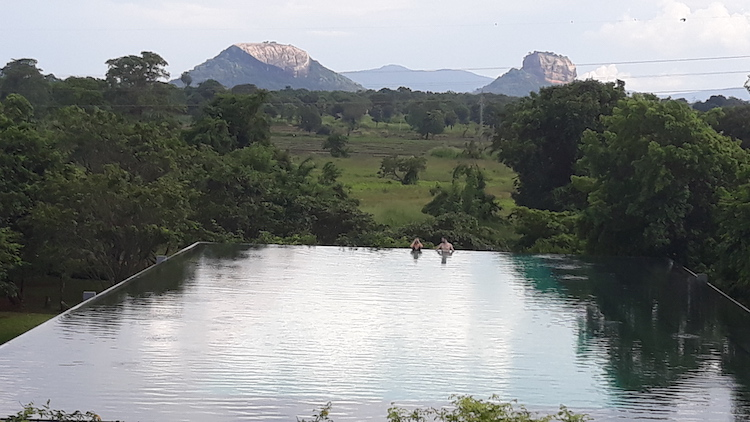 Photo: A view of Sigiriya and Pidurangala from the Aliya resort. Credit: Dr. Palitha Kohona
