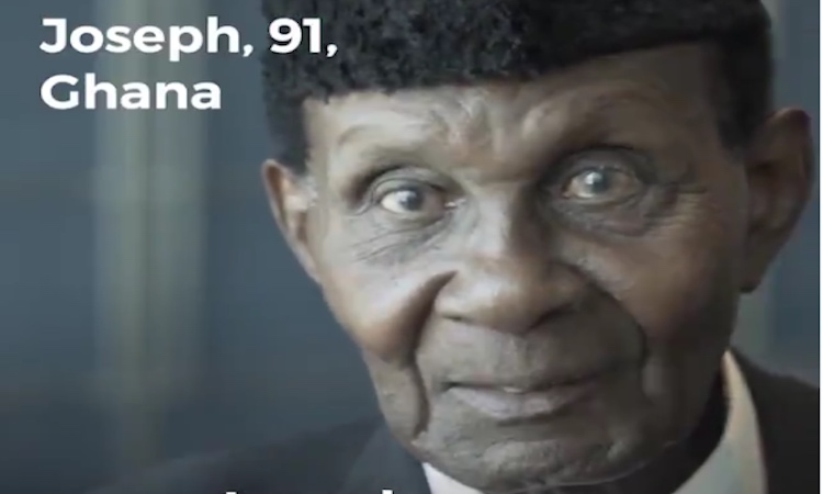 Photo: Joseph Hammond, aged 91, is a Commonwealth veteran from Ghana who fought for Britain in WWII. Credit: DFID