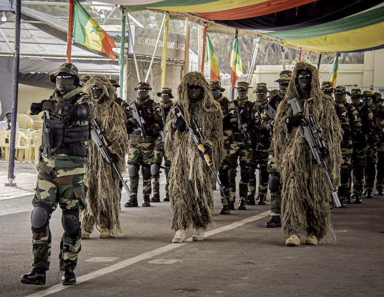 Photo: The Senegal Special Forces during the pass and review of the 45th Navy Day Anniversary Parade. Photo by Staff Sgt. Flor