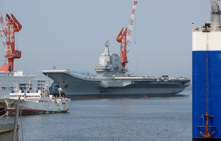 Photo: Aircraft carrier of the Peoples Liberation Army Navy.