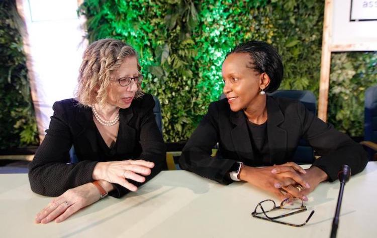 Photo: UNEP Chief Inger Andersen (left) and her deputy Joyce Msuya. Credit: UN Environment