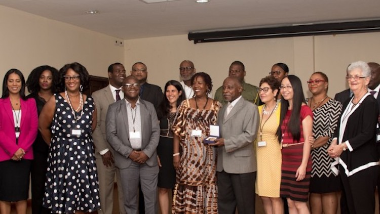 Photo: Caribbean Experts with Nobel Peace Prize 2017 representatives. Credit: ICAN