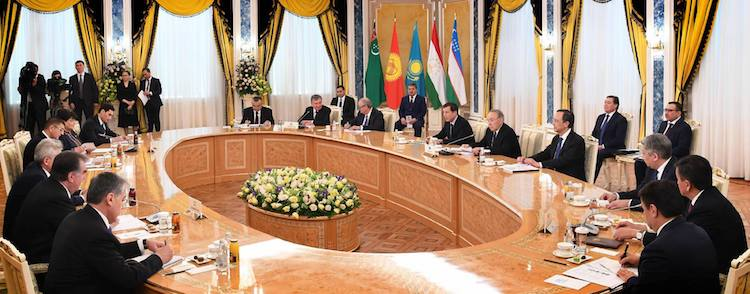 Photo: Central Asian Presidents meeting in Astana on 15 March 2018. Credit: The Astana Times