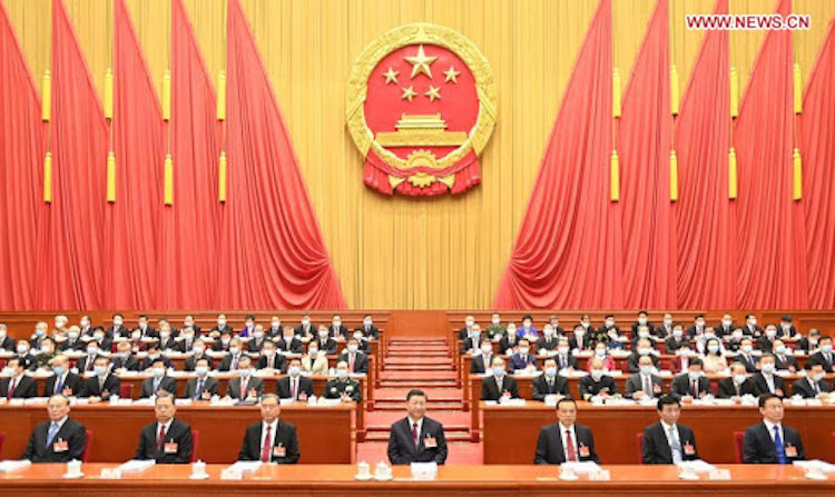 Photo: The fourth session of the 13th National People's Congress (NPC) opens at the Great Hall of the People in Beijing, capital of China, March 5, 2021. Credit: Xinhua/Li Xueren