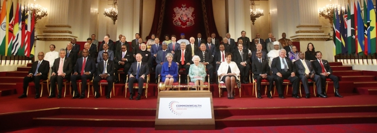 Photo: The Commonwealth Heads of Government Meeting 2018 where Prime Minister Modi (in the second row) announced the launch of a US$50 Million Commonwealth window. Credit: www.royal.uk