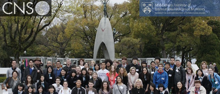 Photo: Group picture of high school students from Russia, Japan and USA who participated in the Critical Issues Forum conference at the James Martin Center for Nonproliferation Studies. Credit: CNS