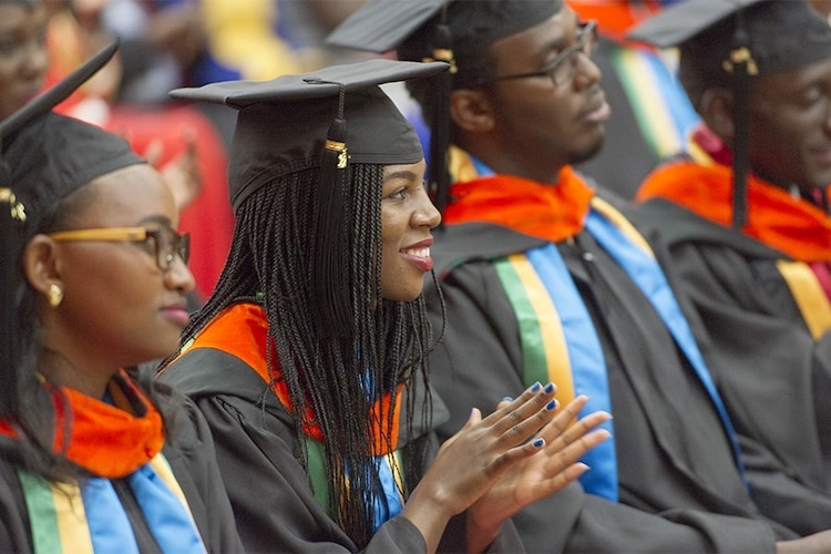 Photo: Graduation Ceremony at Carnegie Mellon University (CMU) Africa. Credit: CMU