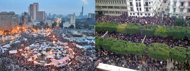 Photo: Collage of Arab Spring scenes | Credit: Wikimedia Commons