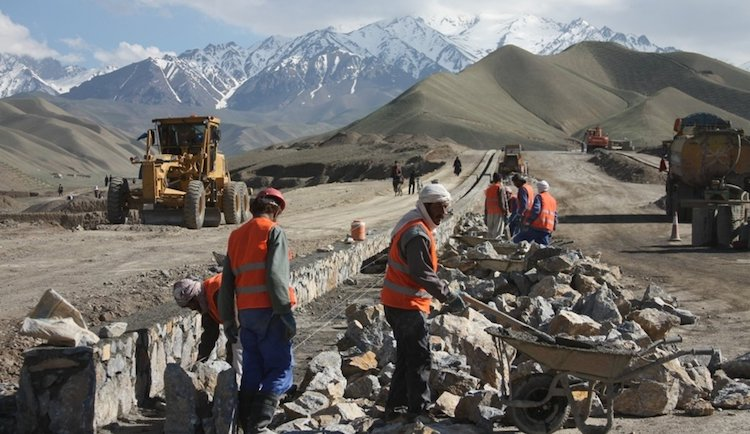 Photo: A new road being constructed in Bamyan in 2013. Credit: UNAMA