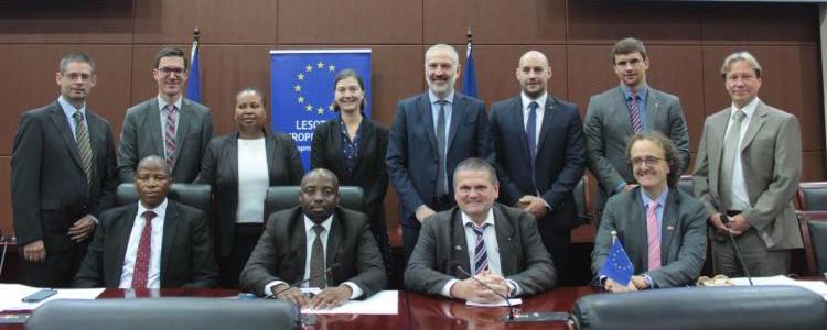 Photo: EU trade mission led by Brussels-based Trade Affairs Officer of the Directorate General for Trade of the European Commission, Roberto Cecutti visited the Kingdom of Lesotho's capital, Maseru, from 14-15 March 2018. Credit: European Union.
