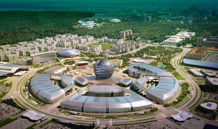 Photo: EXPO2017 World Exhibition grounds, the venue of 'Astana Economic Forum' transformed to 'The Global Challenges Summit' in May 2018 – one of Kazakhstan's eminent international activities