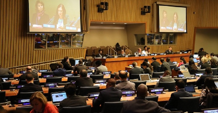 Photo: Civil society at the UN General Assembly First Committee, October 2018
