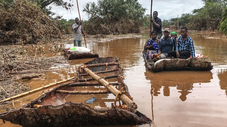 Photo: Inundated victims of two cyclones in Africa. Credit: -cdn.com. Source: USA Today.