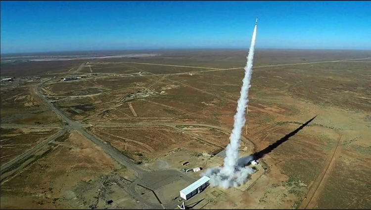 Photo: Woomera Test Range. An effort to create a manual on law governing space war is named for the Woomera Test Range in South Australia. Credit: Commonwealth of Australia, Department of Defence.