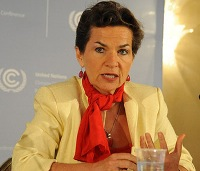"Photo: ""You captured the winds of change in Paris,"" outgoing UNFCCC Executive Secretary Christiana Figueres told the delegates. Courtesy: UNFCCC."