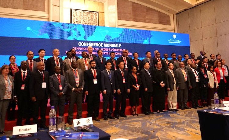 Photo: High level participants and representatives from the least developed countries following the opening session of the Global Conference on Scaling-Up Energy Access and Finance in the Least Developed Countries on May 30. Credit: UN-OHRLLS.
