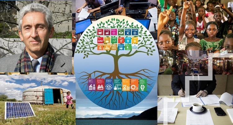 Collage: South Centre Executive Director Dr Carlos Correa mounted on UN photo. IDN-INPS