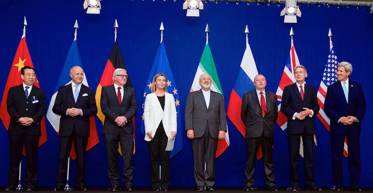 Photo: The ministers of foreign affairs of France, Germany, the European Union, Iran, the United Kingdom and the United States as well as Chinese and Russian diplomats announcing the framework for a Comprehensive agreement on the Iranian nuclear programme (Lausanne, 2 April 2015). Credit: United States Department of State.Photo: IAEA Director General Yukiya Amano confirmed on 16 January that Iran has removed excess centrifuges and infrastructure from the Fordow Fuel Enrichment Plant in line with its nuclear-related commitments. Credit: D. Calma | IAEA