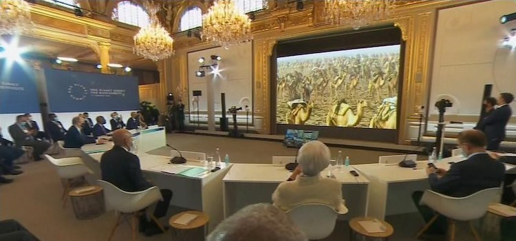 Photo: Virtual One Planet Summit: Credit: First Channel of German TV