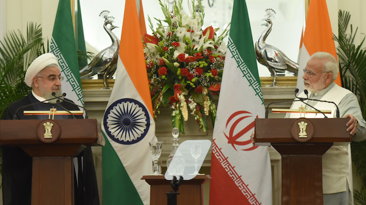 Photo: Dr. Hassan Rouhani, President of the Islamic Republic of Iran, paid his first State Visit to India at the invitation of Prime Minister of the Republic of India, Narendra Modi, from 15-17 February 2018. Credit: pmindia.gov.in
