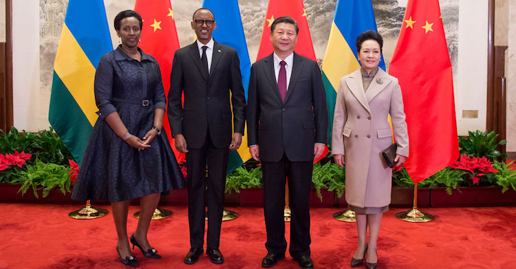 Photo: President Kagame meets Chinese President in Beijing. Credit: Paul Kagame's website.